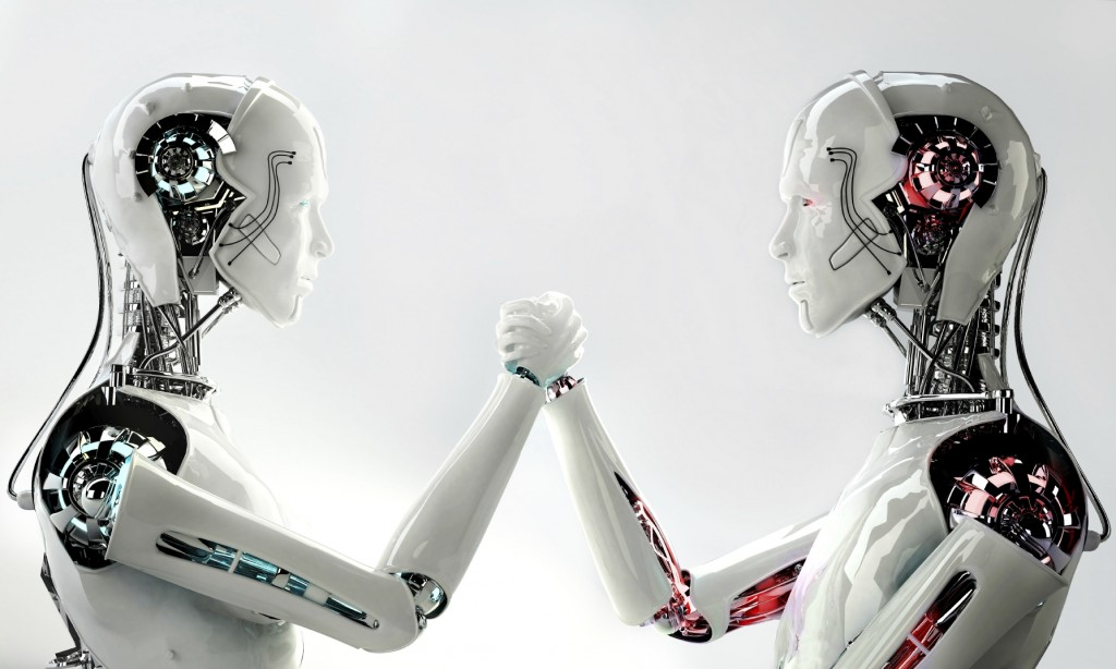 robots holdings hands