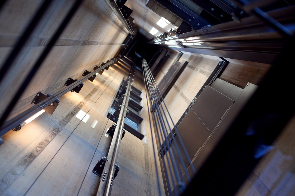 Inside an Elevator Shaft