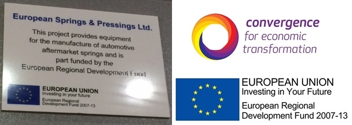 ERDF Convergence grant Plaque