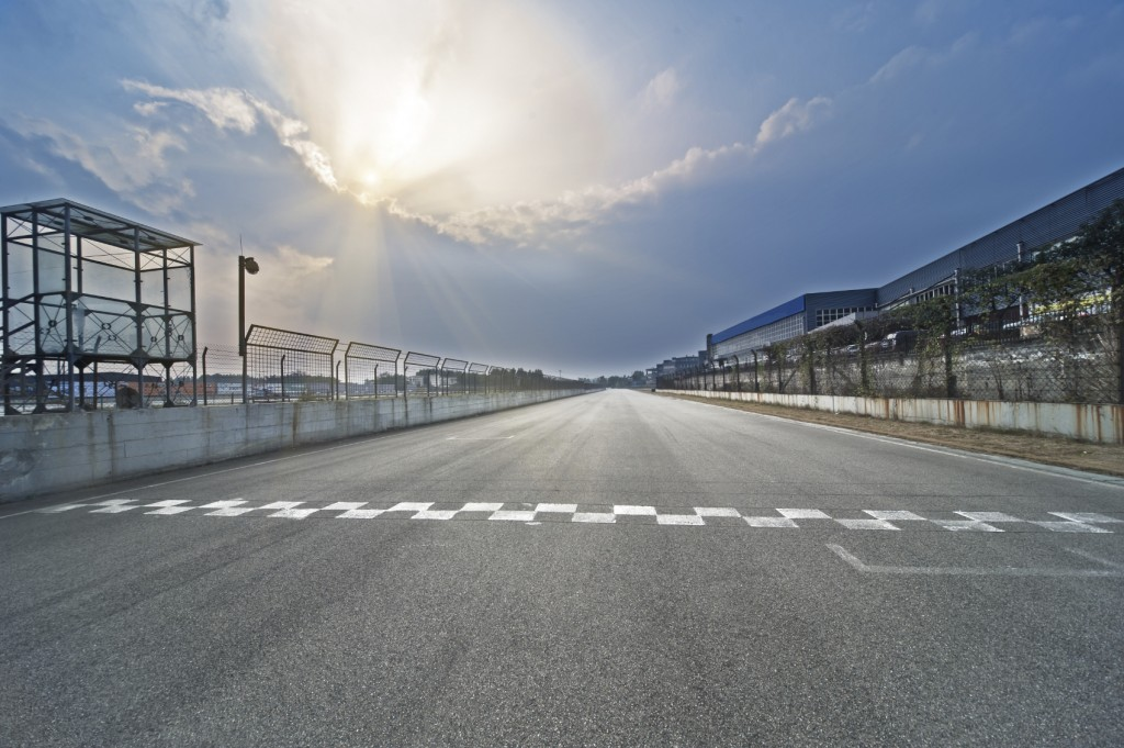 Race Track Start and Finish