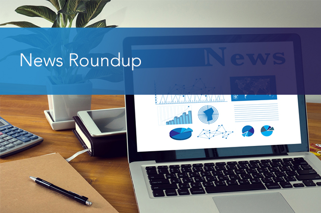 News Roundup - computer with news and graphics