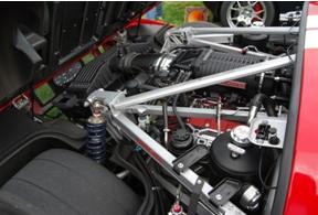 Suspension springs in a motorcar